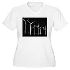 Bold Wind Farm Women's PlusSize V-Neck DarkT-Shirt