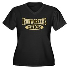 Ironworker's Chick Women's Plus Size V-Neck Dark T