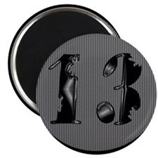 "Cool Lucky 13 2.25"" Magnet (10 pack)"