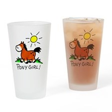 Brown pony Drinking Glass