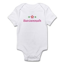 "Pink Daisy - ""Savannah"" Infant Bodysuit"