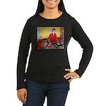 El DJ Booth Women's Long Sleeve Dark T-Shirt