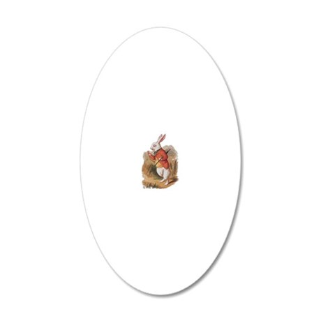 alice white rabbit (2) 20x12 Oval Wall Decal