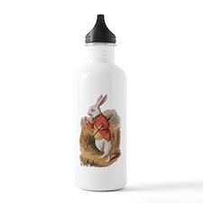 alice white rabbit (2) Water Bottle