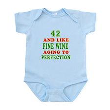 Funny 42 And Like Fine Wine Birthday Infant Bodysu
