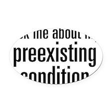 preexist-01 Oval Car Magnet