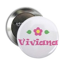 "Pink Daisy - ""Viviana"" Button"