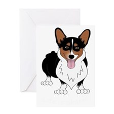 Corgidark Greeting Card