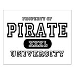 Pirate University T-Shirts Small Poster