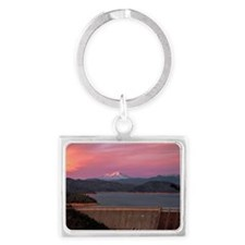 Mt. Shasta at Sunset Landscape Keychain