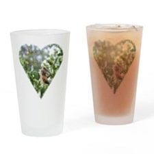 BeeMineHeart Drinking Glass