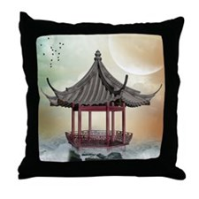 Oriental Gazebo Throw Pillow