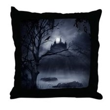 Gothic Night Fantasy Throw Pillow