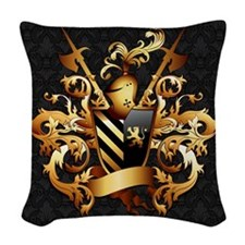 Medieval Coat of Arms Woven Throw Pillow