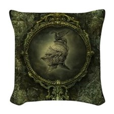 Knight Fantasy Woven Throw Pillow