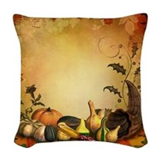Thanksgiving Woven Throw Pillow