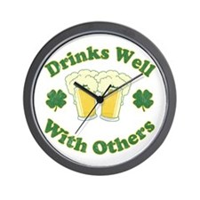 drinks_well_with_others Wall Clock