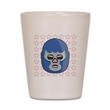 lucha libre blue demon tshirt Shot Glass