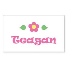"Pink Daisy - ""Teagan"" Rectangle Decal"
