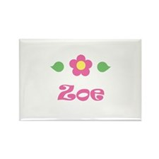"Pink Daisy - ""Zoe"" Rectangle Magnet"