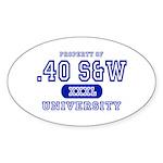 .40 S&W University Oval Sticker