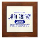 .40 S&W University Framed Tile