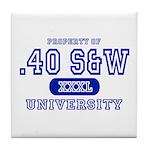 .40 S&W University Tile Coaster