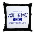 .40 S&W University Throw Pillow
