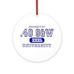 .40 S&W University Ornament (Round)