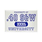 .40 S&W University Rectangle Magnet