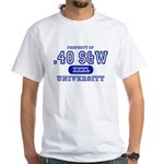 .40 S&W University White T-Shirt