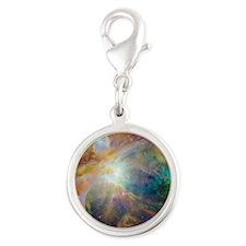orion-nebula-hubble Silver Round Charm