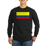 Colombia Blank Flag Long Sleeve Black T-Shirt
