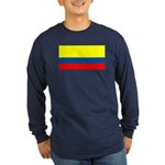 Colombia Blank Flag Long Sleeve Blue T-Shirt