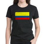 Colombia Colombian Blank Flag Women's Dark T-Shirt