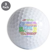 scrubscollagewh Golf Ball