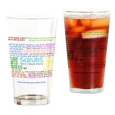 scrubscollagewh Drinking Glass