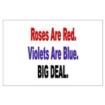 Roses are Red Anti-Valentine Large Poster