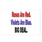 Roses are Red Anti-Valentine Postcards (Package of