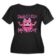 Girl Dad Women's Plus Size Dark Scoop Neck T-Shirt