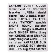 sawyer-NICKNAMES Throw Blanket
