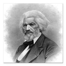 "Frederick Douglass by Au Square Car Magnet 3"" x 3"""