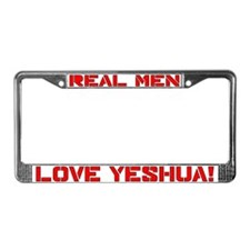 Real men Yeshua License Plate Frame
