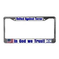 United against terror License Plate Frame