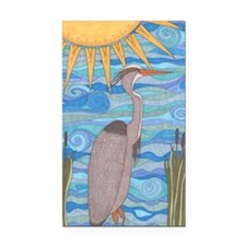Great Blue Heron Rectangle Car Magnet