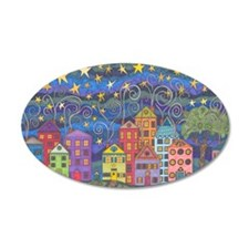 Village Lights Wall Decal