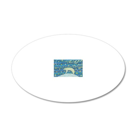 Top of the World 20x12 Oval Wall Decal