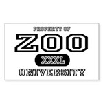 Zoo University Rectangle Sticker