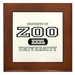 Zoo University Framed Tile