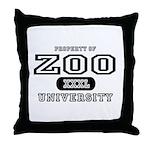 Zoo University Throw Pillow